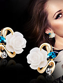 cheap Women's Shirts-Women's Stud Earrings Earrings Flower Ladies Jewelry Yellow / Pink / Light Blue For Wedding Party Daily