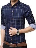 billige Herreskjorter-Store størrelser Skjorte - Ruter Herre