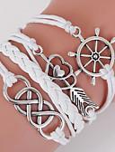 preiswerte Modische Uhren-Herrn Damen Wickelarmbänder loom-Armband - Liebe, Anker Böhmische, Doppelschicht Armbänder Schmuck Weiß Für Alltag Normal