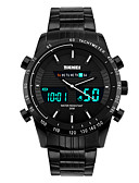 cheap Sport Watches-SKMEI Men's Sport Watch / Wrist Watch Alarm / Calendar / date / day / Chronograph Stainless Steel Band Black / Water Resistant / Water Proof / Dual Time Zones