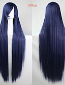 cheap Fashion Watches-Synthetic Wig Straight Asymmetrical Haircut Synthetic Hair Natural Hairline Blue Wig Women's Long Capless