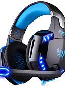baratos Relógio de Bolso-KOTION EACH G2000 Sobre o ouvido / Bandana Com Fio Fones Plástico Games Fone de ouvido Luminoso / Isolamento de ruído / Com Microfone Fone de ouvido
