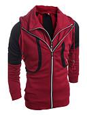 billige Hættetrøjer og sweatshirts til herrer-Herre Sport Langærmet Hætte Hattetrøje - Ensfarvet
