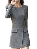 ieftine Rochii de Damă-Pentru femei De Bază Regular Palton, Mată Manșon Lung Negru / Gri L / XL / XXL