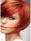 זול מלכת הוינטאג'-פאות סינתטיות ישר סגנון ללא מכסה פאה אדום אדום שיער סינטטי אדום פאה קצר