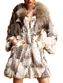 preiswerte Damen Pelzmantel-Langarm Schal Rabbit Fur & Waschbär-Pelz-Party / Mantel lässig