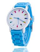 baratos Relógios da Moda-Mulheres Relógio Casual Relógio de Moda Quartzo Silicone Banda Analógico Azul / Laranja / Verde - Verde Rosa claro Azul Claro
