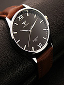 cheap Fashion Watches-Men's Wrist Watch Casual Watch Leather Band Charm Black / Brown