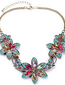 cheap Vintage Dresses-Women's Synthetic Diamond Bib Pendant Necklace - Rhinestone Flower European, Colorful, Festival / Holiday Screen Color Necklace Jewelry For Party, Special Occasion, Birthday