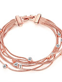 cheap Men's Tees & Tank Tops-Women's Chain Bracelet - Rose Gold, Rhinestone, Rose Gold Plated Fashion Bracelet Gold For Wedding Party Daily / Imitation Diamond