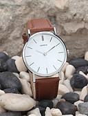 cheap Dress Watches-Men's Quartz Wrist Watch Casual Watch Leather Band Minimalist Black / White / Brown / Gold