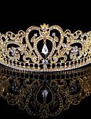 cheap Wedding Veils-Rhinestone / Alloy Tiaras with 1 Wedding / Special Occasion Headpiece