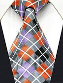cheap Men's Ties & Bow Ties-Men's Work Rayon Necktie - Rainbow Check Jacquard Basic