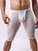 cheap Men's Exotic Underwear-Men's Super Sexy Long Johns Solid Colored