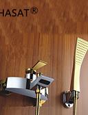 preiswerte Damen Kleider-Badewannenarmaturen - Moderne Chrom Wandmontage Keramisches Ventil