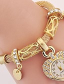 cheap Quartz Watches-Women's Wrist Watch Imitation Diamond Alloy Band Charm / Vintage / Heart shape Silver / Gold / One Year