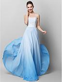 baratos Vestidos de Noite-Tubinho Sem Alças Longo Chiffon / Renda Baile de Formatura / Evento Formal Vestido com Renda de TS Couture® / Cores Gradiente