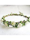 Χαμηλού Κόστους Νυφικά-Γυναικεία Κοριτσίστικα Λουλουδάτο Λουλούδι Βίντατζ Λουλούδια Νυφικό Γάμος Χαρτί Λουλούδι Κορδέλα Coroane Coroană