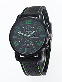 voordelige Dress horloge-Heren Kwarts Polshorloge / Hot Sale Silicone Band Informeel Zwart