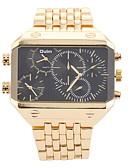 baratos Relógios da Moda-Homens Relógio de Pulso Três Fusos Horários Aço Inoxidável Banda Amuleto Prata / Dourada / Dois anos / SOXEY SR626SW