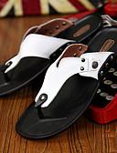 abordables Pantalones y Shorts de Hombre-Hombre Cuero Primavera / Verano Confort Zapatillas y flip-flops Negro / Naranja / Amarillo
