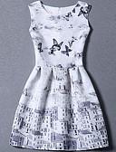 hesapli Kadın Elbiseleri-Kadın's Büyük Bedenler Kayakçı Elbise Desen Mini