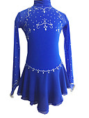 cheap Ice Skating Dresses , Pants & Jackets-Figure Skating Dress Women's / Girls' Ice Skating Dress Royal Blue Outdoor clothing / Competition Skating Wear Handmade Classic Long Sleeve Ice Skating / Figure Skating
