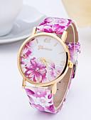 baratos Quartz-Mulheres Relógio de Pulso Relógio Casual Couro Banda Fashion / Elegante Azul / Vermelho / Laranja