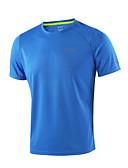 billige Løbetøj-Arsuxeo Herre Rund hals Løbe-T-shirt - Lysegul, Himmelblå, Mørkegrå Sport T-Shirt / Toppe Kortærmet Sportstøj Hurtigtørrende, / Åndbart