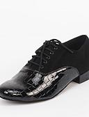 olcso Férfi nyakkendők és csokornyakkendők-Férfi Latin cipők Fordított bőr / PU Magassarkúk Illesztés Személyre szabható Dance Shoes Fekete / Otthoni