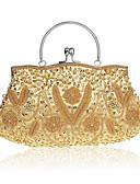 preiswerte Schals-Damen Taschen Polyester Tragetasche / Unterarmtasche / Abendtasche Blume Purpur / Rot / Champagner