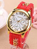 preiswerte Modische Uhren-Damen Armbanduhr Armbanduhren für den Alltag Silikon Band Charme / Freizeit / Modisch Schwarz / Blau / Rot / Ein Jahr / Tianqiu 377