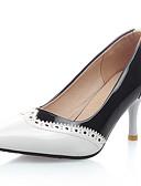 ieftine Blazere-Pentru femei Pantofi Imitație de Piele Primăvară / Vară Toc Stilat Combinată Alb / Negru / Rosu / Party & Seară / Rochie / Party & Seară