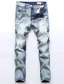 abordables Pantalones y Shorts de Hombre-Hombre Algodón Corte Recto Corte Ancho Pantalones de Deporte Vaqueros Pantalones - Un Color