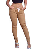 cheap Women's Pants-Women's Shredded Legging Solid Colored Mid Waist