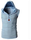 preiswerte Herren T-Shirts & Tank Tops-Herrn Solide Sport Baumwolle T-shirt, Mit Kapuze