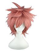 halpa Luistelumekot-Synteettiset peruukit Suora Vaaleanpunainen Synteettiset hiukset Vaaleanpunainen Peruukki Suojuksettomat
