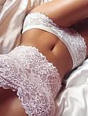 זול חזיות-סטים של תחתונים וחזיות סטרפלס חזיית צינור(גוזיית סטרפלס) כיסוי מלא בגדי ריקוד נשים פוליאסטר תחרה מידות גדולות אחיד לבן שחור אדום