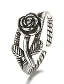 povoljno Kvarcni satovi-Band Ring Prilagodljivi prsten prsten za palac Srebro Plastika Srebrna dame Vintage Punk Dnevno Kauzalni Jewelry Obrtnik Cvijet jeftino