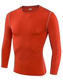 זול תחתונים וגרביים לגברים-בגדי ריקוד גברים טישרט לריצה / שכבת בסיס - אדום, כחול, ירוק בהיר ספורט טי שירט / שכבות בסיס / בגדים צמודים שרוול ארוך לבוש אקטיבי קל