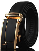 cheap Fashion Belts-Men's Work Active Basic Leather Wide Belt - Solid Colored
