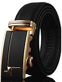 cheap Men's Belt-Men's Work Active Basic Leather Wide Belt - Solid Colored