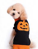 ieftine Chiloți-Pisici Câine Pulovere Îmbrăcăminte Câini Dovleac Negru Bumbac Costume Pentru animale de companie Bărbați Pentru femei Draguț Halloween
