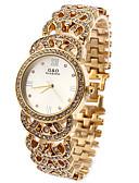 ieftine Quartz-Pentru femei Ceas de Mână Quartz Ceas Casual imitație de diamant Oțel inoxidabil Bandă Analog Sclipici Modă Ceas de diamant simulat Alb / Auriu - Auriu Alb