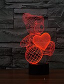 cheap Women's Sweaters-Baby Teddy Bear Hold Love Heart Balloon 3D USB LED Lamp Table Night Light Home Room Decor Kids Toy Christmas Gift Beside
