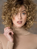 cheap Women's Headpieces-women s fashion gold blonde mix short curly synthetic wigs for women