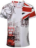 お買い得  メンズTシャツ&タンクトップ-男性用 スポーツ - プリント Tシャツ コットン