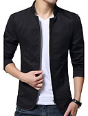 cheap Men's Jackets & Coats-Men's Jacket - Solid Colored, Modern Style Stand