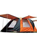 olcso Női szoknyák-Shamocamel® 4 fő Családi Camping Tent Kétrétegű Automatikus Šator-koliba kemping sátor Két szoba Külső Vízálló, Melegen tartani, Rovartaszító mert Túrázás / Kemping 2000-3000 mm Poliészter, Oxford