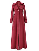 olcso Kabát & Viharkabát-Munka Divatos és modern V-alakú Női Ballonkabát - Egyszínű / Ősz